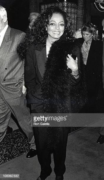 Diana Ross during Screening of 'Out of Darkness' at Galaxy Theater in Hollywood California United States