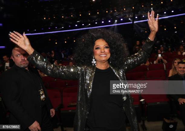 Diana Ross during the 2017 American Music Awards at Microsoft Theater on November 19 2017 in Los Angeles California