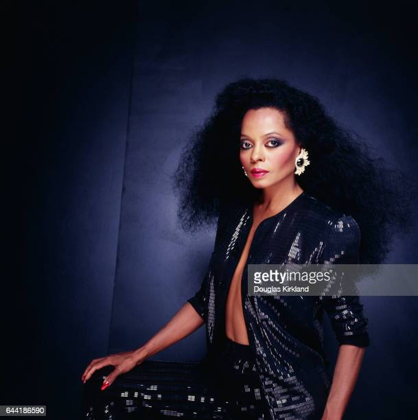 Diana Ross in Black Sequined Outfit