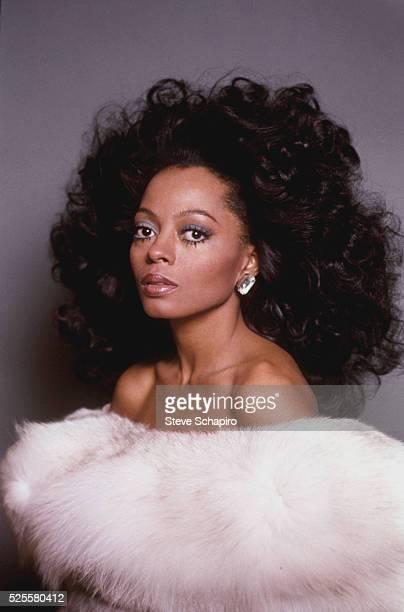 Diana Ross in White Fur