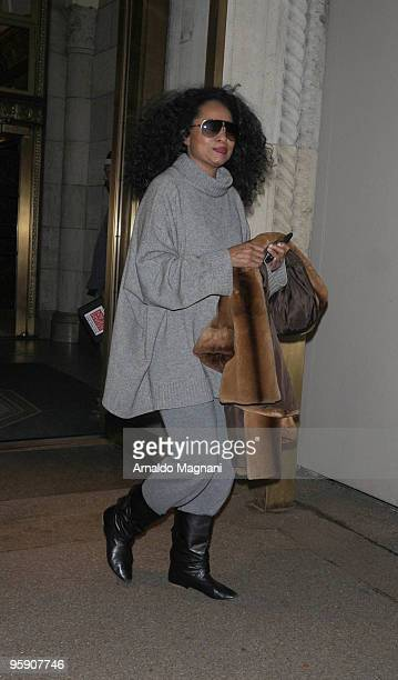 Diana Ross leaves a building on Fifth Avenue on January 20 2010 in New York City