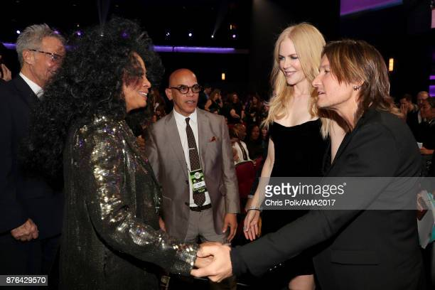 Diana Ross Nicole Kidman and Keith Urban during the 2017 American Music Awards at Microsoft Theater on November 19 2017 in Los Angeles California