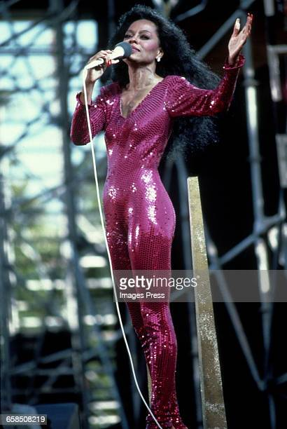 Diana Ross performing in Central Park circa 1983 in New York City