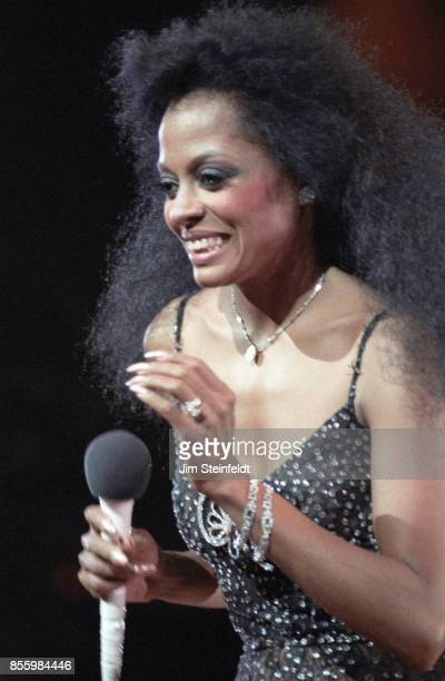 Diana Ross performs at the St Paul Civic Center in St Paul Minnesota on May 28 1985