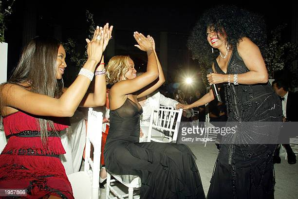 Diana Ross performs during the Costume Institute Benefit Gala sponsored by Gucci April 28 2003 at The Metropolitan Museum of Art in New York City