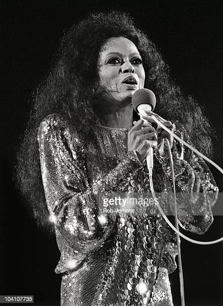 Diana Ross performs on stage at Ahoy on 13th October 1985 in Rotterdam Netherlands