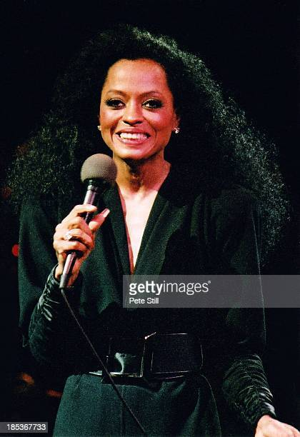 Diana Ross performs on stage at The Royal Albert Hall on September 19th 1985 in London England