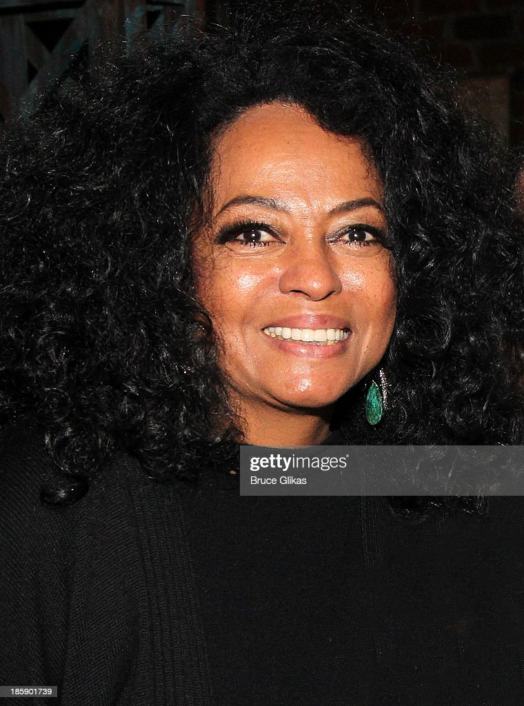 Diana Ross poses backstage at 'Kinky Boots' on Broadway at The Al Hirshfeld Theater on October 25, 2013 in New York City.