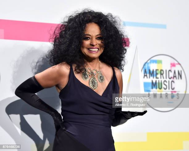 Diana Ross poses in the press room during the 2017 American Music Awards at Microsoft Theater on November 19 2017 in Los Angeles California