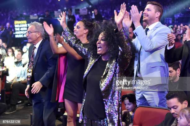 Diana Ross reacts during the 2017 American Music Awards at Microsoft Theater on November 19 2017 in Los Angeles California