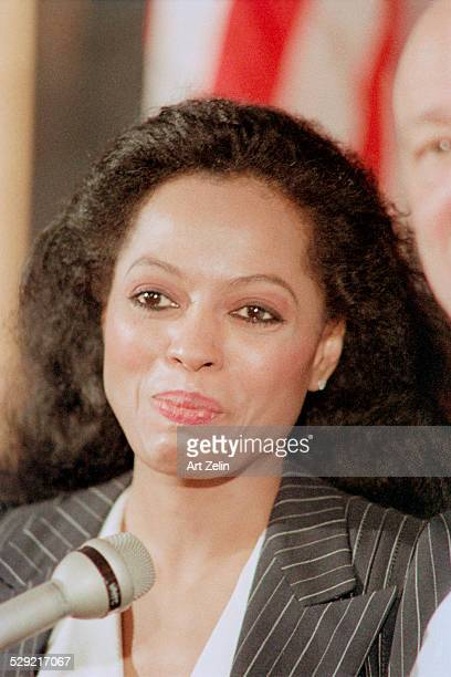 Diana Ross with a microphone circa 1990 New York