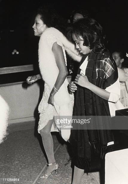 Diana Ross with daughter during Premiere of the new Berry Gordy and Motown Film 'The Last Dragon' at Plitt Theater in Los Angeles California United...