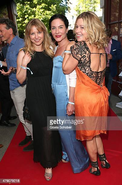 Diana Staehly Marisa Burger Karin Thaler attend the Bavaria Film reception during the Munich Film Festival at Kuenstlerhaus am Lenbachplatz on June...
