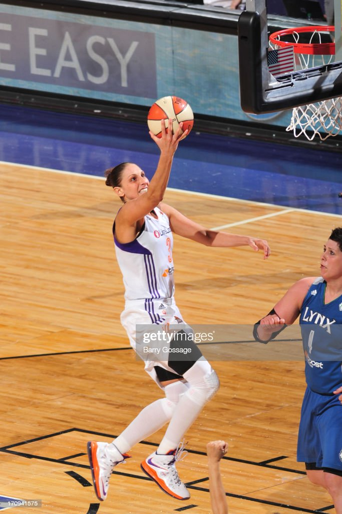 <a gi-track='captionPersonalityLinkClicked' href=/galleries/search?phrase=Diana+Taurasi&family=editorial&specificpeople=202558 ng-click='$event.stopPropagation()'>Diana Taurasi</a> #3 of the Phoenix Mercury shoots against the Minnesota Lynx on June 19, 2013 at U.S. Airways Center in Phoenix, Arizona.