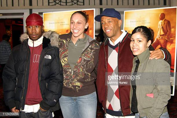 Diana Taurasi of the Phoenix Mercury with Russell Simmons and guests