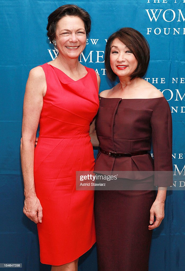 Diana Taylor and Connie Chung attend New York Women's Foundation 25th Anniversary Celebration at Alice Tully Hall on October 23, 2012 in New York City.
