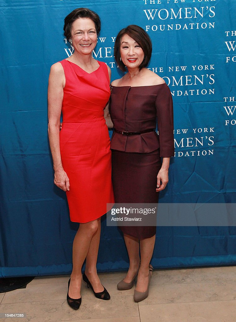 Diana Taylor and <a gi-track='captionPersonalityLinkClicked' href=/galleries/search?phrase=Connie+Chung&family=editorial&specificpeople=224659 ng-click='$event.stopPropagation()'>Connie Chung</a> attend New York Women's Foundation 25th Anniversary Celebration at Alice Tully Hall on October 23, 2012 in New York City.