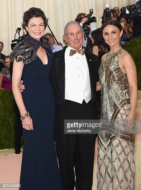 Diana Taylor Michael Bloomberg and Georgina Bloomberg attend the 'Manus x Machina Fashion In An Age Of Technology' Costume Institute Gala at...