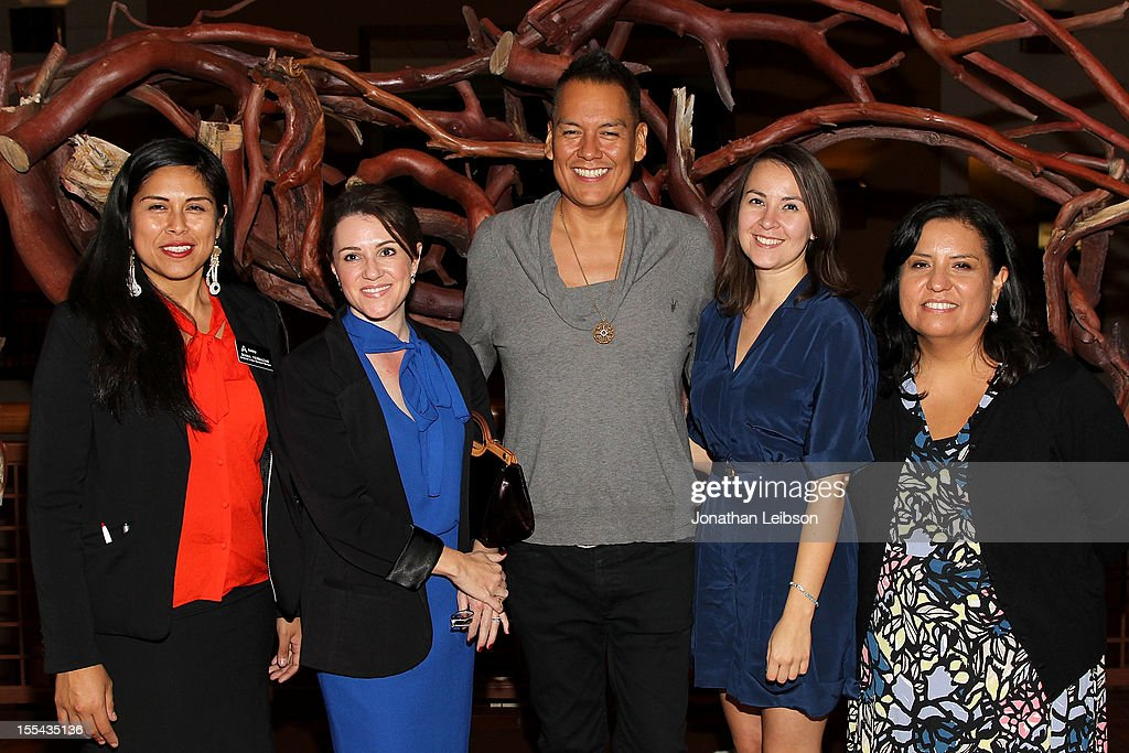 Diana Terrazas, Angela Riley, Bird Runningwater, Brooke Swaney and Rebecca Rosser attend the Sundance Institute At The Autry Presents 'Native Films' at The Autry National Center on November 3, 2012 in Los Angeles, California.