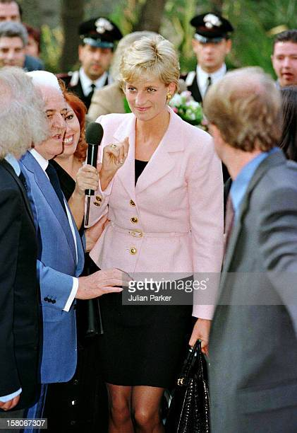 Diana The Princess Of Wales Arrives At The Grand Hotel In Rimini ItalyThe Princess Was In Rimini To Receive A Humanitarian Award For Her Charity Work
