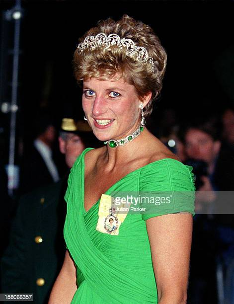 Diana The Princess Of Wales Attends The Return Banquet During The State Visit From Malaysia At The Dorchester Hotel In London
