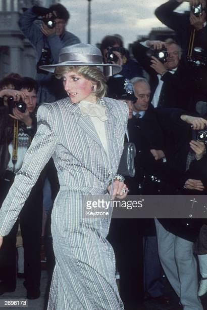 Diana the Princess of Wales attends the wedding of her friend Anne Bolton