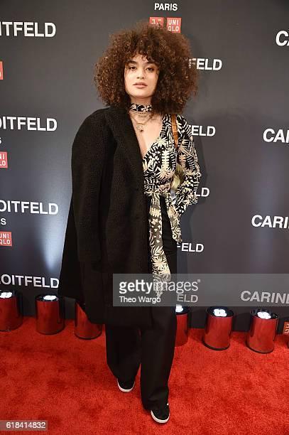 Diana Veras attends the UNIQLO Fall/Winter 2016 Carine Roitfeld collection launch at UNIQLO on October 26 2016 in New York City