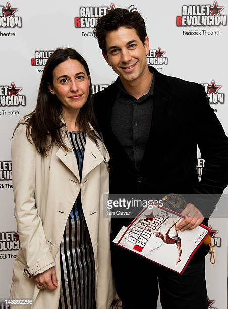 Diana Verde Nieto and Adam Garcia attend the opening night of 'Ballet Revolucion' at the Peacock Theatre on April 25 2012 in London England