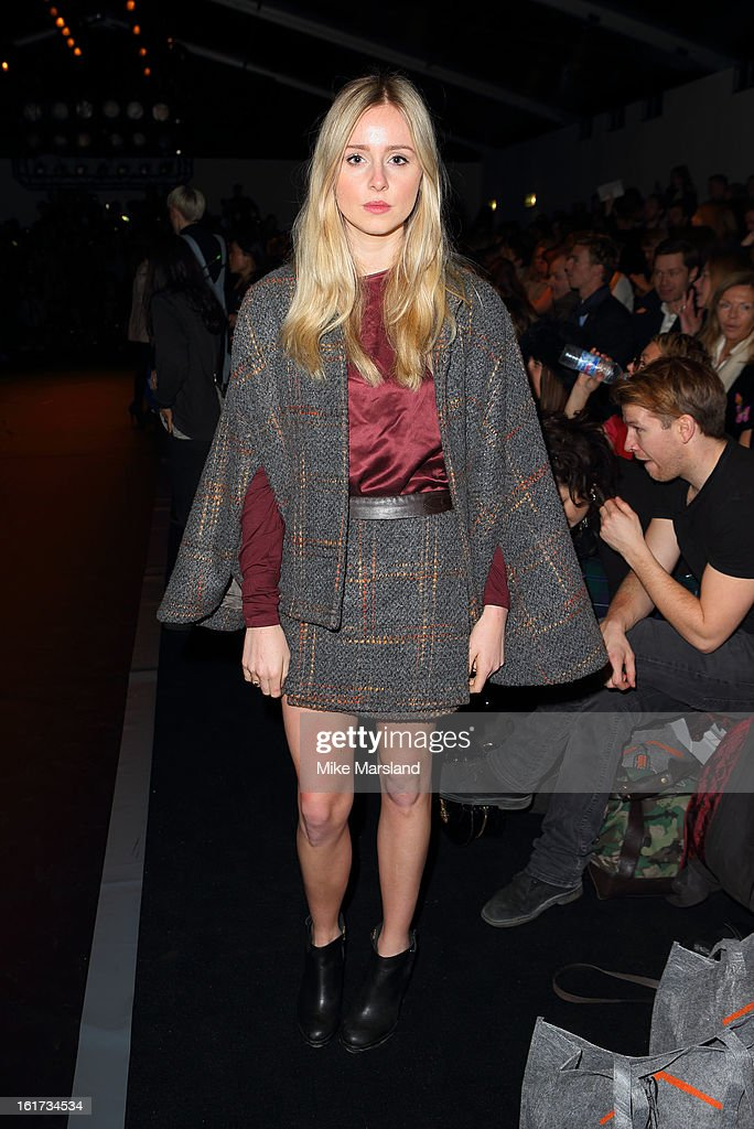 Diana Vickers attends the Zoe Jordan show during London Fashion Week Fall/Winter 2013/14 at Somerset House on February 15, 2013 in London, England.