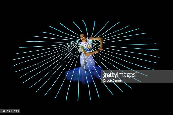 Diana Vishneva performs Dove of Peace during the Opening Ceremony of the Sochi 2014 Winter Olympics at Fisht Olympic Stadium on February 7 2014 in...