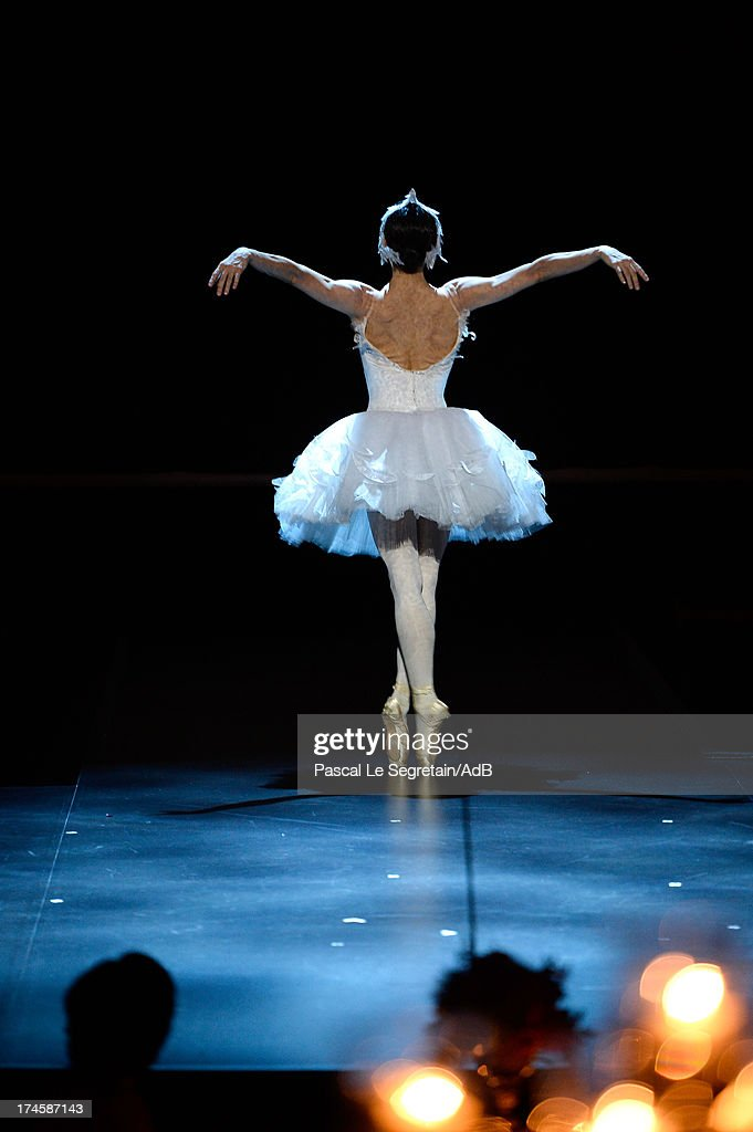 Diana Vishneva performs during the dinner at 'Love Ball' hosted by Natalia Vodianova in support of The Naked Heart Foundation at Opera Garnier on July 27, 2013 in Monaco, Monaco.