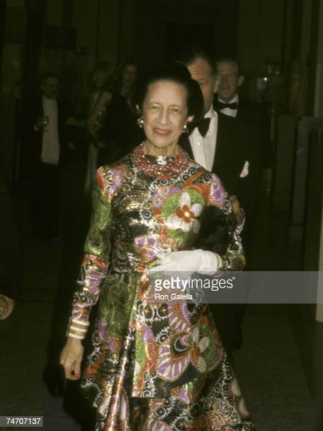 Diana Vreeland at the Metropolitan Museum of Art in New York City New York
