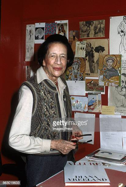Diana Vreeland circa 1980 in New York City