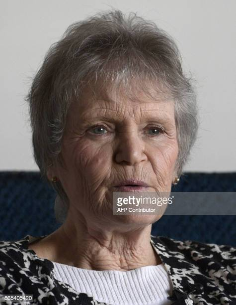 Diana Wang president of the organization of holocaust survivors in Argentina of the Shoah foundation talks with the AFP during an interview in...