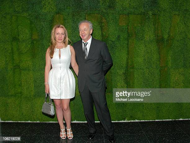 Diana Widmaier Picasso and photographer Gilles Bensimon attend MoMA's 40th Annual Party in the Garden on June 10 2008 at The Abby Aldrich Rockefeller...