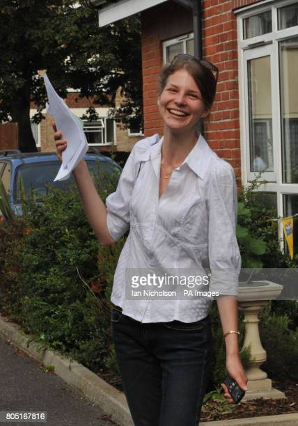 Diana Zinchenko who arrived from Ukraine aged 13 and achieved seven A grade A Levels receives her results at Chelmsford County High School for Girls