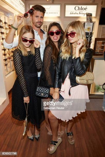Diana zur Loewen Thore Schoelermann Milena Le Secret and Xenia Overdose attend the late night shopping at Designer Outlet Soltau on August 4 2017 in...