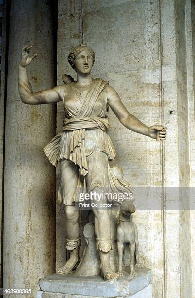 Diana/Artemis goddess of hunting Marble statue of the goddess of hunting known to the Ancient Greeks as Artemis and to the Romans as Diana