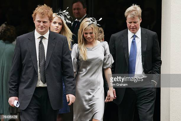 Diana's brother Charles Earl Spencer with his nephew George McCorquodale and daughters Amelia Spencer and Kitty Spencer at the 10th Anniversary...