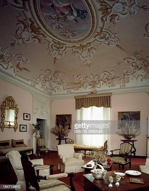 Diana's Living Room at Mina della Scala Castle Casteldidone Italy 16th century