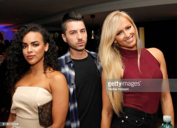 Diandra Barnwell Tom Ierna and Danielle Moinet attend the Talent Resources Sports Party hosted by Martell Cognac at Playboy Headquarters on July 11...
