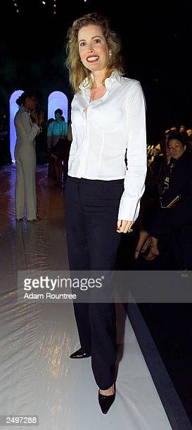 Diandra Douglas former wife of actor Michael Douglas attends the Douglas Hannant Spring/Summer 2004 Collection at Bryant Park during the 7th on Sixth...