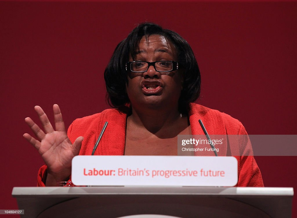 <a gi-track='captionPersonalityLinkClicked' href=/galleries/search?phrase=Diane+Abbott&family=editorial&specificpeople=628753 ng-click='$event.stopPropagation()'>Diane Abbott</a> MP addresses delegates on the third day of the Labour party conference at Manchester Central on September 28, 2010 in Manchester, England. The new Labour party leader Ed Miliband will today give his keynote speech to delegates where he is expected to offer a 'different ways' of doing politics.