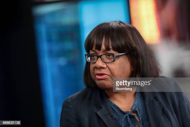 Diane Abbott UK opposition Labour Party home affairs spokesperson speaks during a Bloomberg Television Interview in London UK on Friday May 26 2017...