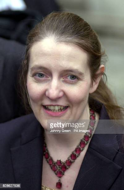 Diane Blood outside the Royal Courts of Justice following an appeal case for the right for Diane's husband's name to be placed on the birth...