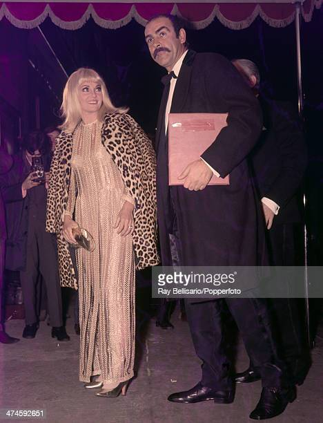 Diane Cilento with her husband Sean Connery at the film premiere of 'Shalako' in London on 12th December 1968