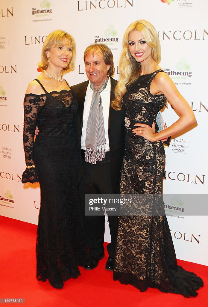 Diane Davison, Chris De Burgh and <a gi-track='captionPersonalityLinkClicked' href=/galleries/search?phrase=Rosanna+Davison&family=editorial&specificpeople=2579566 ng-click='$event.stopPropagation()'>Rosanna Davison</a> attend the European premiere of 'Lincoln' on January 20, 2013 in Dublin, Ireland.