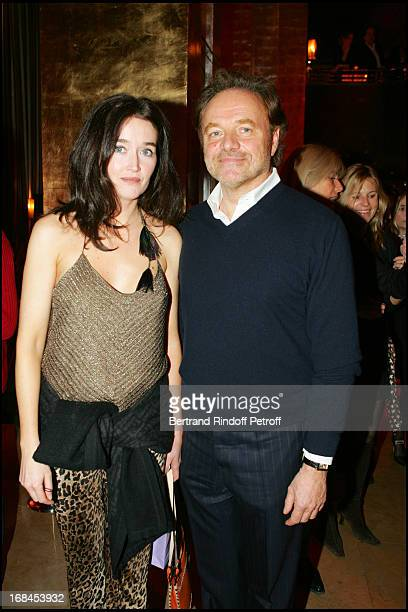 Diane de Mac Mahon and Guillaume Durand at 100th Episode Of 'Campus' Of Guillaume Durant At Le Cafe De L'Homme Restaurant At The Trocadero
