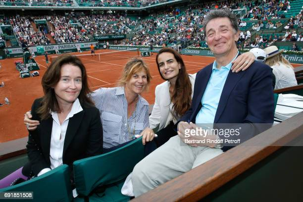 Diane de Mac Mahon Virginie CouperieEiffel Baron Edouard de Rothschild and his companion attend the 2017 French Tennis Open Day Seven at Roland...