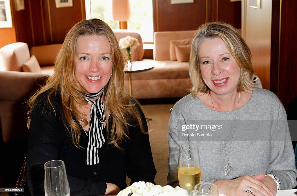 Diane English (R) attends the Champagne Taittinger Women in Hollywood Lunch hosted by Vitalie Taittinger at Sunset Tower on January 25, 2013 in West Hollywood, California.